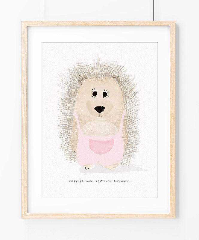 Sweet Hedgehog Art Print
