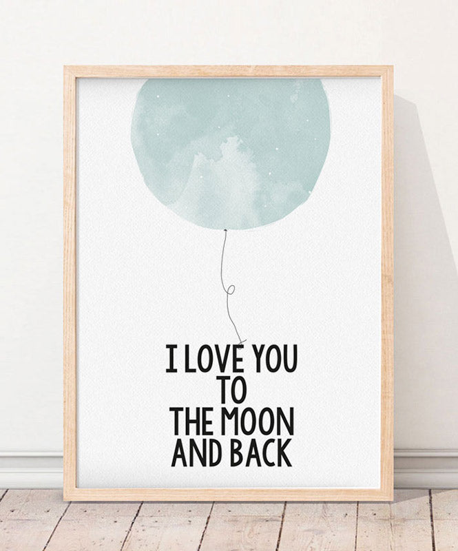 "Póster ""To the Moon"""