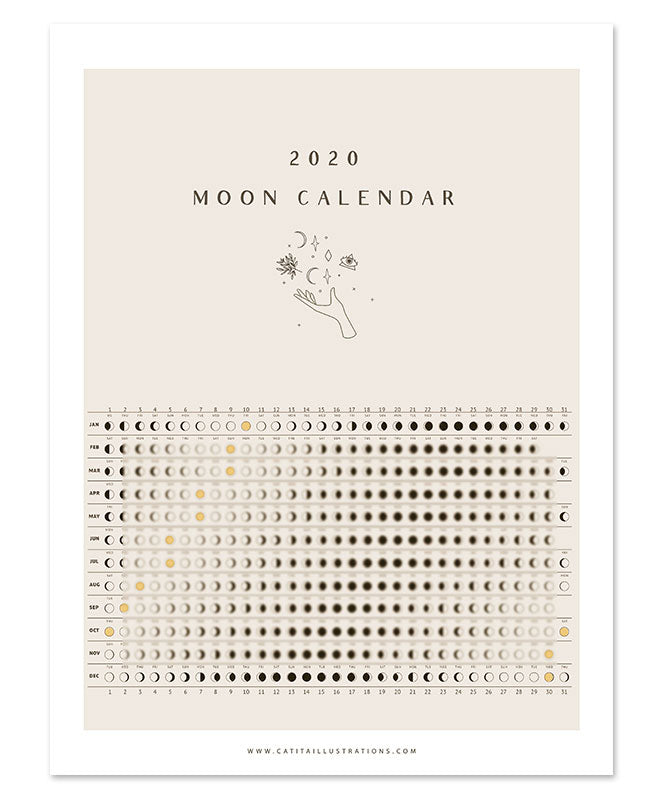 Wild Moon ☾ Calendar 2020 Downloadable File