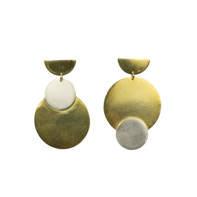 Silver & Gold Asymmetric Double Discs