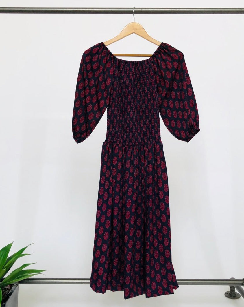 Frida Dress - Purple and Red