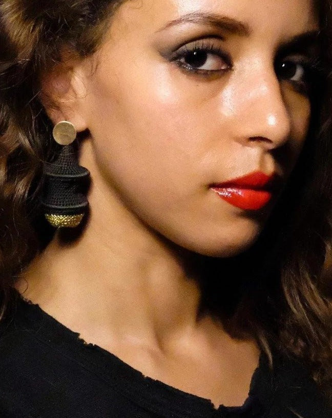 Short Joosh Earrings - Cumin and Gold