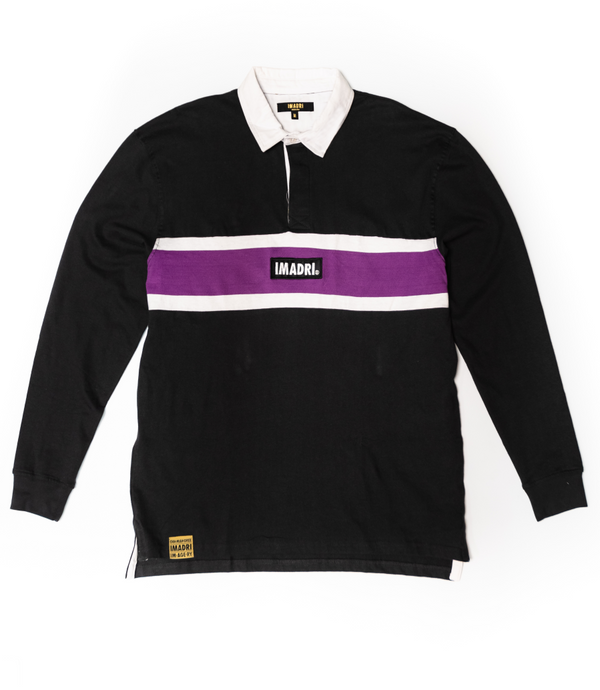 Rugby Long Sleeve - Dark Navy/Lavender