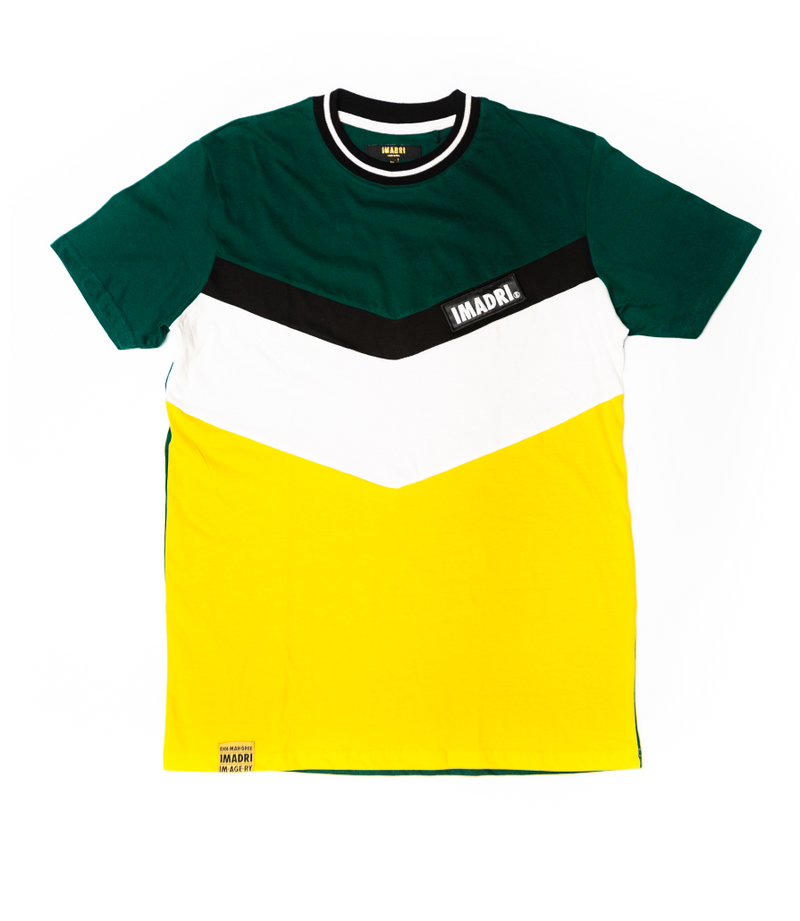 Zag Shirt - Green/White/Yellow