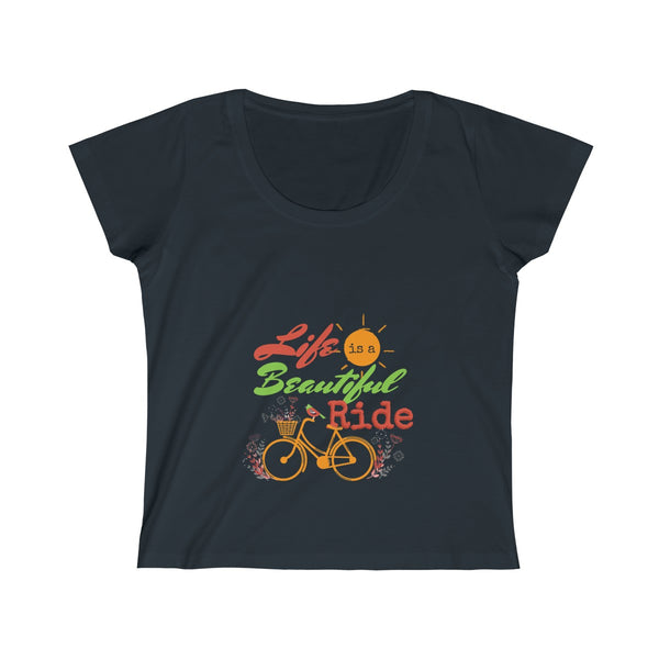 Life is a Beautiful Ride Women's Scoop Neck Tee