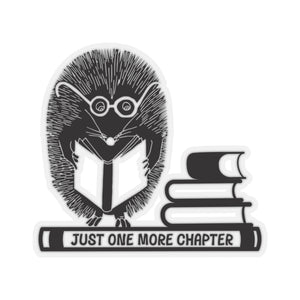 Hedgie the Reader Kiss Cut Sticker