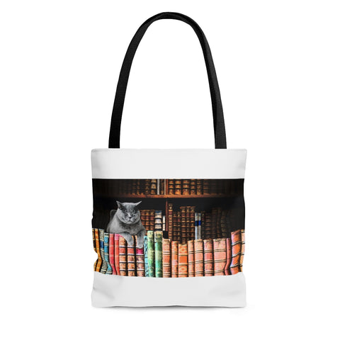 Vintage Library Cat Tote