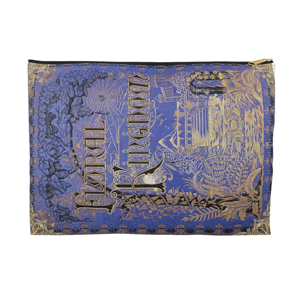 Vintage Book Cover  - Floral Kingdom - Accessory Pouch