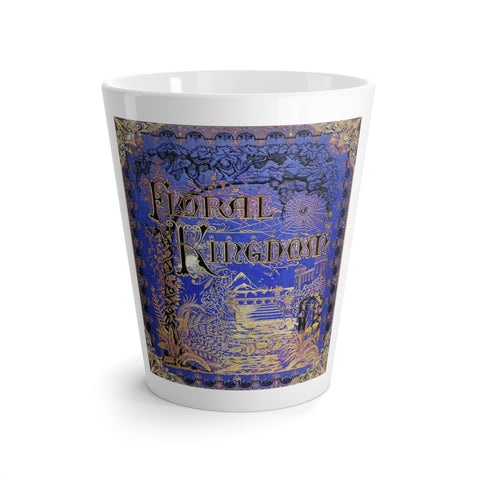 Vintage Floral Kingdom Book Cover Latte Mug