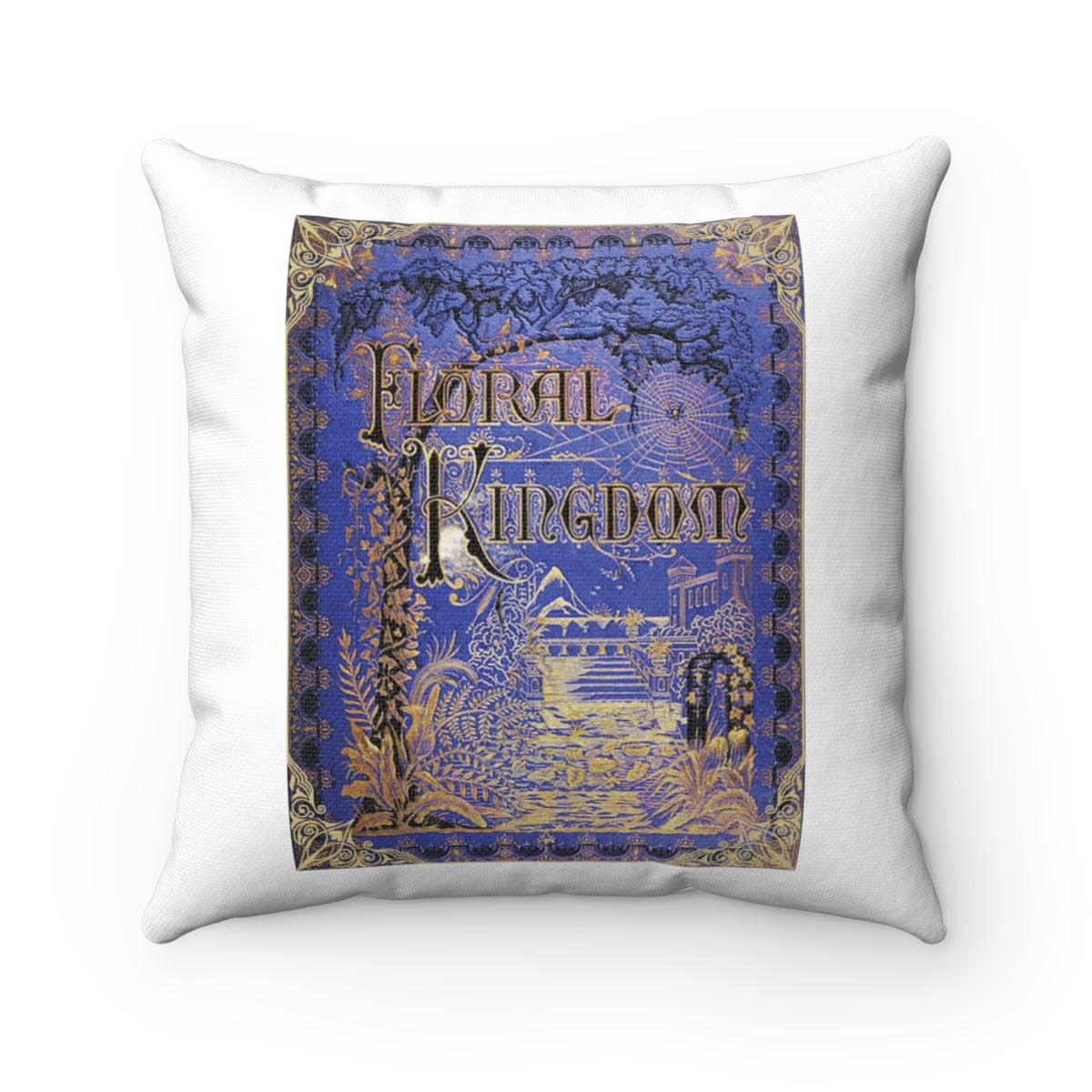 Vintage Book Cover - Floral Kingdom Pillow