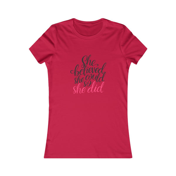 She Believed She Could Women's Jersey Tee - Scoop