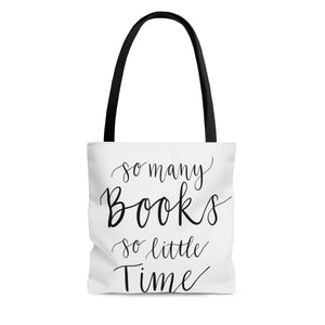 So Many Books So Little Time Calligraphy Bag