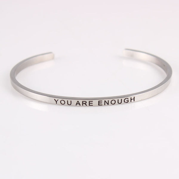 Hand Stamped Mantra Bangle