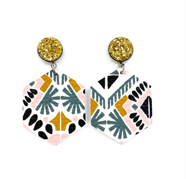 Aztec Hex Earrings