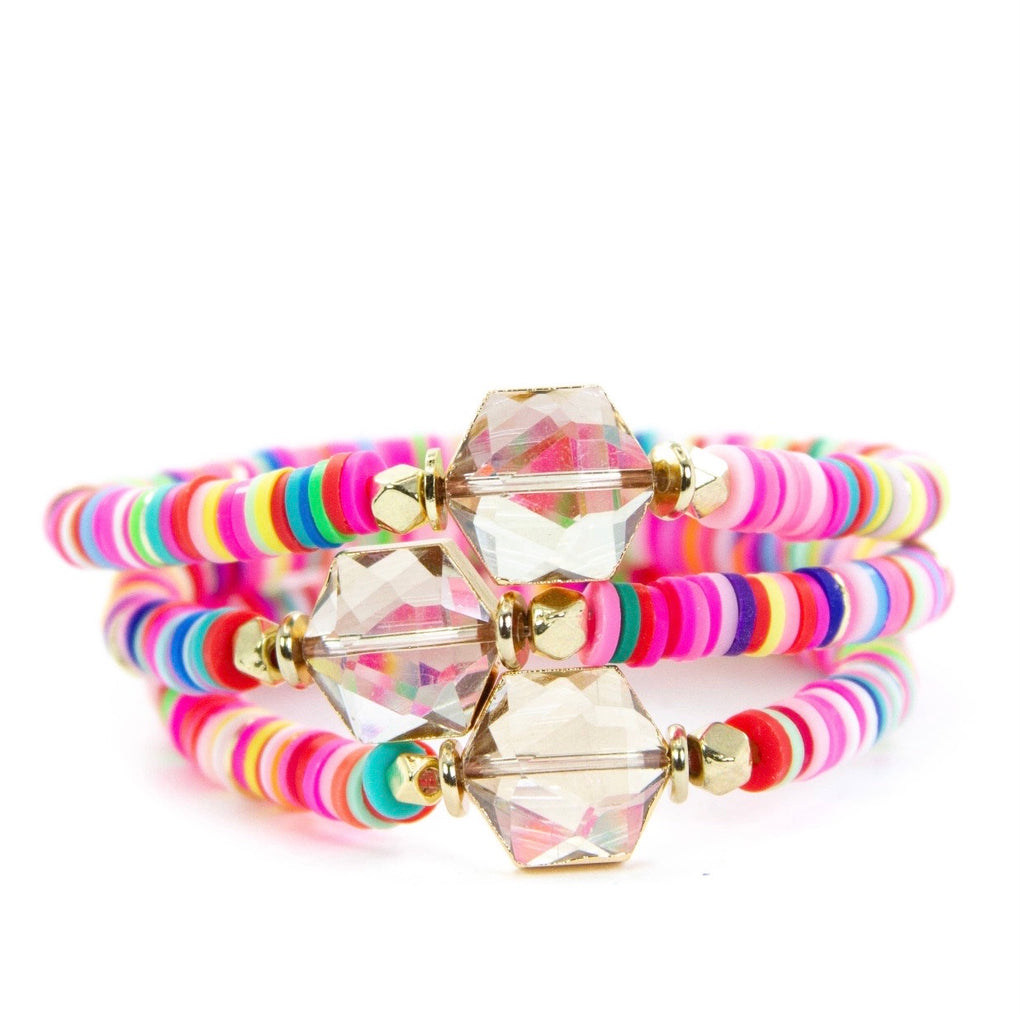 Neon stacking bracelets