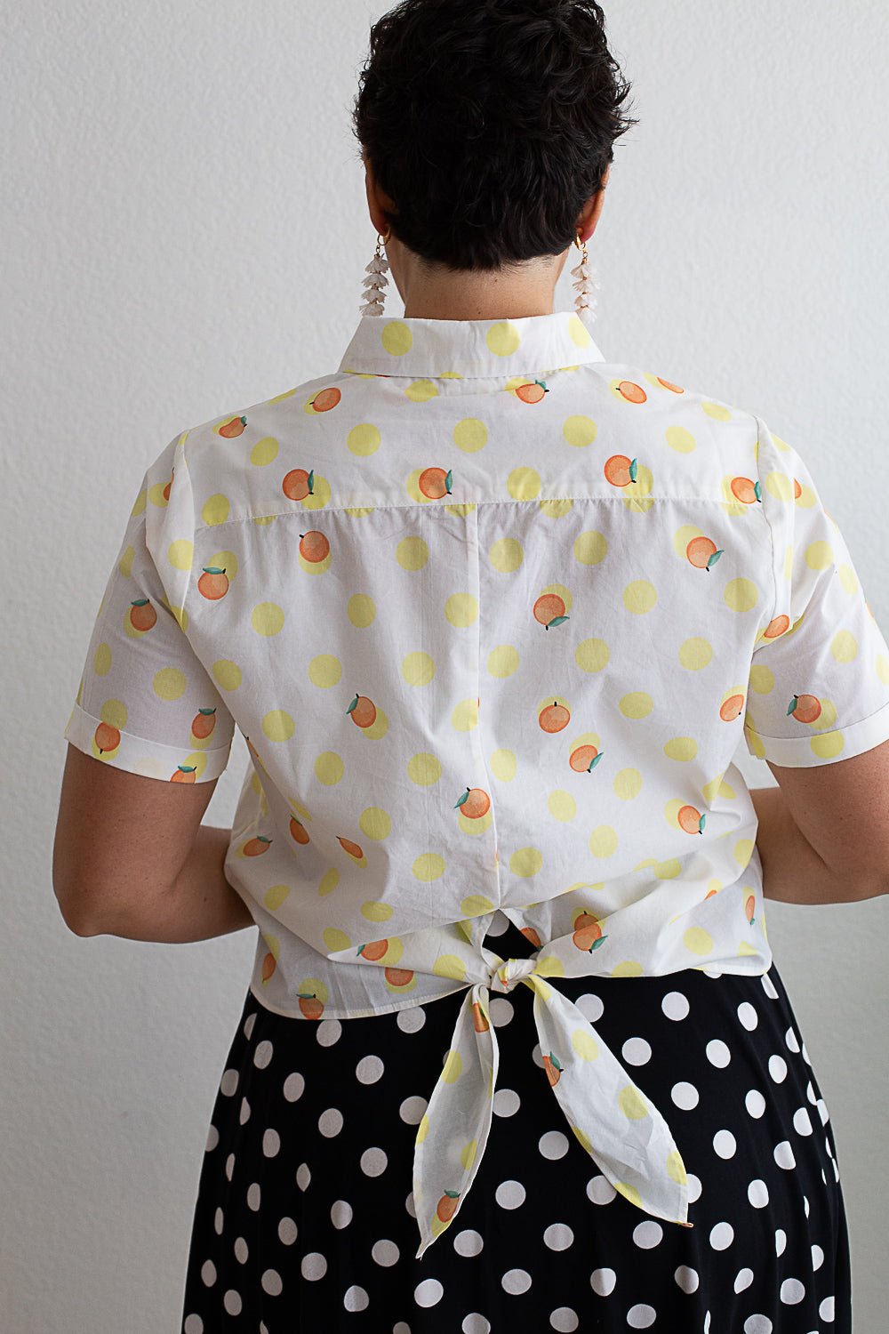 Dotted Citrus Button Down
