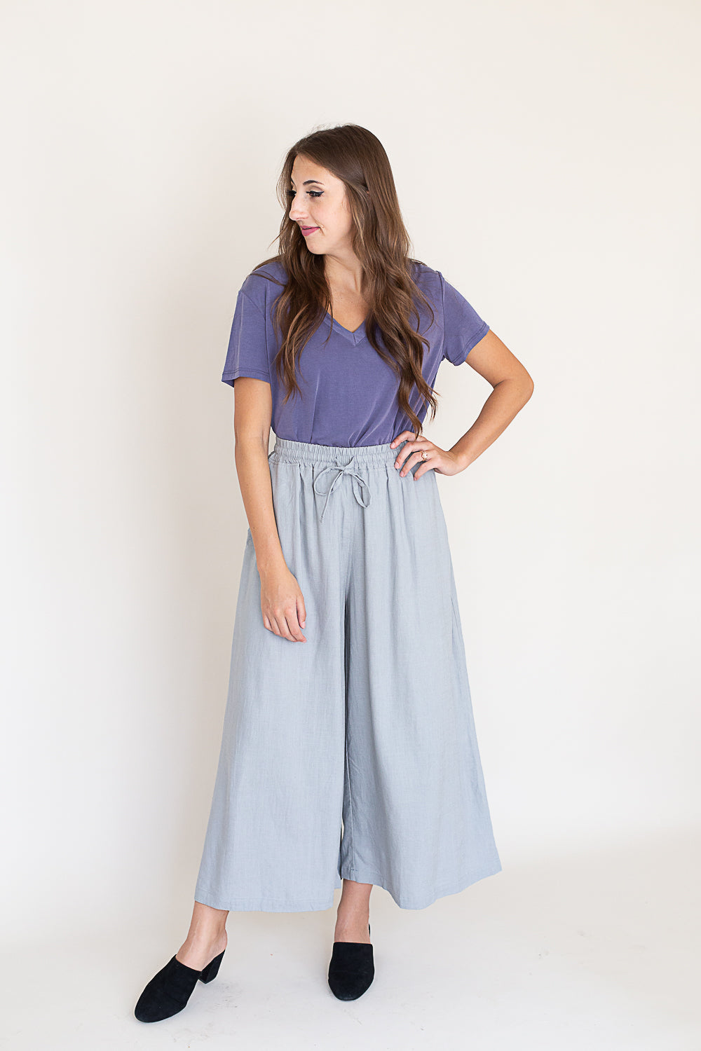 Cloudy Skies Culottes