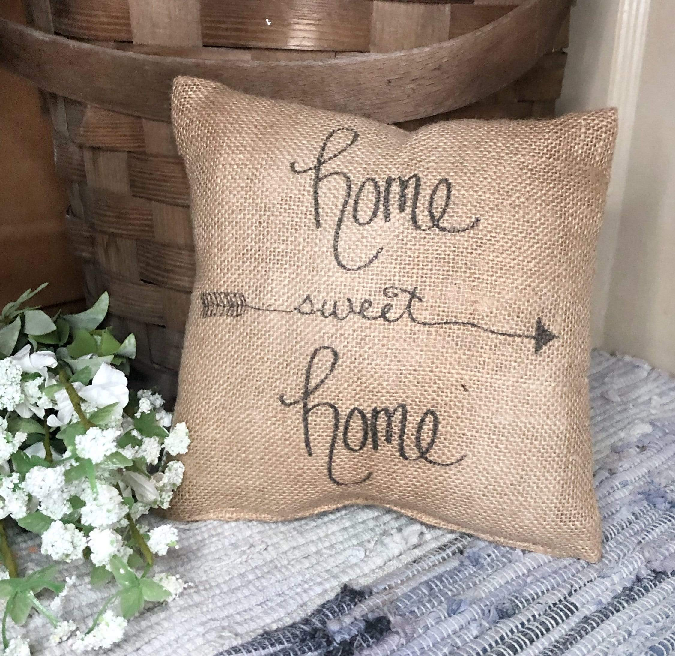 Burlap Pillow - Home Sweet Home