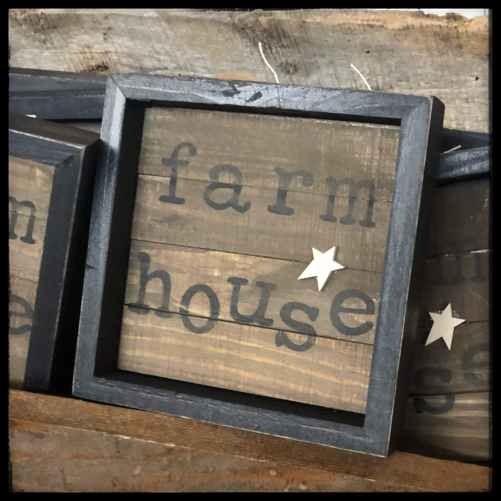 Farmhouse Slat Sign