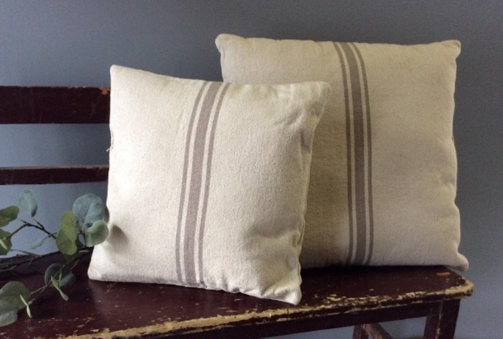 Grain Sack Pillow Cover (LEFT)