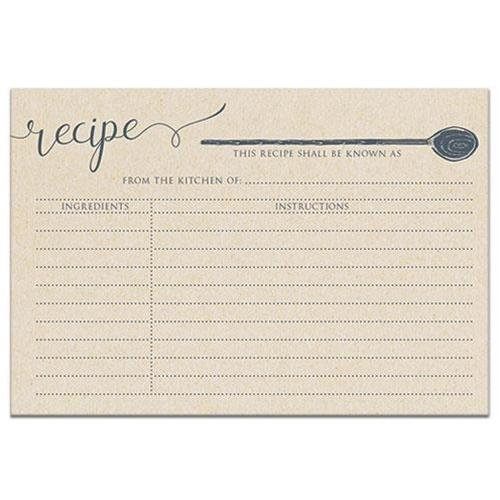 Vintage Style Recipe Cards