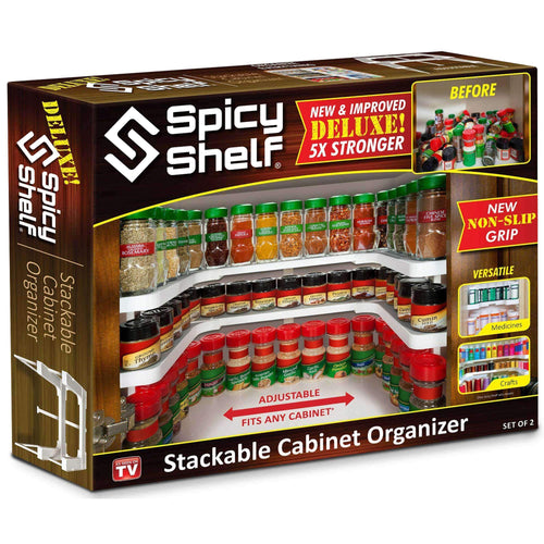 Spicy Shelf Deluxe: Stackable Cabinet Organizer From As Seen On TV Hot 10