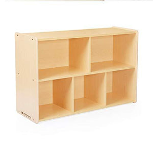 Save guidecraft 5 compartment storage shelves 30 toddlers wooden organizer cabinet for school home or daycare teachers book cubby and toy shelf