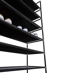Buy now meevrie 10 tiers shoe racks space saving non woven fabric shoe storage organizer cabinet tower for bedroom entryway hallway and closet black