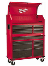 Load image into Gallery viewer, Buy now heavy duty drawer 16 tool chest 46 in and rolling cabinet set red and black personal valuables storage drawer with separate lock in the tool chest