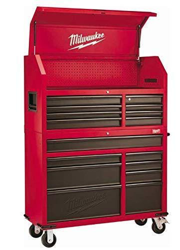 Buy now heavy duty drawer 16 tool chest 46 in and rolling cabinet set red and black personal valuables storage drawer with separate lock in the tool chest