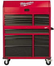 Load image into Gallery viewer, Explore heavy duty drawer 16 tool chest 46 in and rolling cabinet set red and black personal valuables storage drawer with separate lock in the tool chest