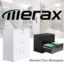 Load image into Gallery viewer, Top merax lateral file cabinet 2 drawer locking filing cabinet 3 drawers metal organizer with heavy duty hanging file frame for legal business files office home storage