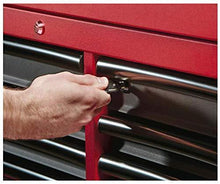 Load image into Gallery viewer, Discover the heavy duty drawer 16 tool chest 46 in and rolling cabinet set red and black personal valuables storage drawer with separate lock in the tool chest