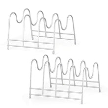 Load image into Gallery viewer, Discover nex 2 pack kitchen cabinet pan and pot lid organizer rack holder