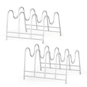 Shop here nex 2 pack kitchen cabinet pan and pot lid organizer rack holder 1