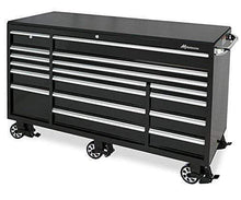 Load image into Gallery viewer, Cheap montezuma tool box 72 17 drawer roller cabinet with 18 gauge steel construction black powder coat finish bk7217mz