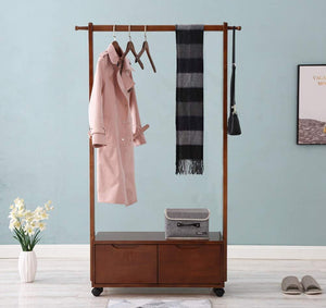 Products kdjhp solid wood coat rack coat rack floor bedroom replacement shoe rack drawer storage rack cabinet hanger coat rack 0189 color c design pulley