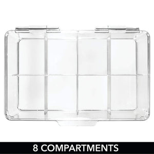 Home mdesign stackable plastic tea bag holder storage bin box for kitchen cabinets countertops pantry organizer holds beverage bags cups pods packets condiment accessories clear