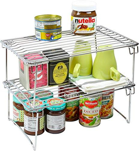 - Decobros Stackable Kitchen Cabinet Organizer, Chrome