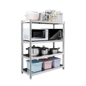 Cheap kitchen shelf stainless steel microwave oven rack multi function kitchen cabinet and cabinet rack storage rack 6 sizes kitchen storage racks size 10040118cm