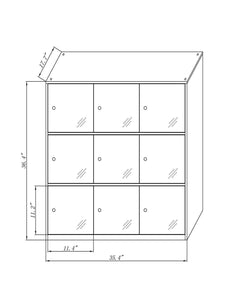 Online shopping 9 door metal locker office cabinet locker living room and school locker organizer home locker organizer storage for kids bedroom and office storage cabinet with doors and lock for cloth white