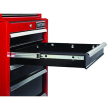 Load image into Gallery viewer, Storage 26 in 13 drawer heavy duty ball bearing 3 pc combo is perfect for your home garage or small work shop this 3 piece set includes a top chest middle chest and rolling cabinet store small parts hand tools or power tools in these storage boxes