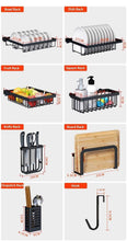 Load image into Gallery viewer, Online shopping over sink dish drying rack kitchen organizer and dish drainer with 7 interchangeable racks and caddies plus bonus wine glass rack that mounts to cabinetry