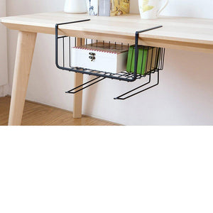 Latest aiyoo heavy duty under shelf basket with paper towel holder for pantry cabinet closet wire rack storage basket wardrobe office desk space save bathroom kitchen organizer baskets for extra storage