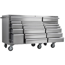 Load image into Gallery viewer, Selection viper tool storage vp7218ss pro 72 inch 18 drawer 304 stainless steel rolling cabinet