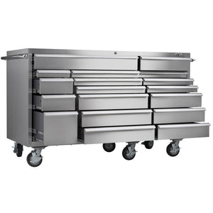 Selection viper tool storage vp7218ss pro 72 inch 18 drawer 304 stainless steel rolling cabinet