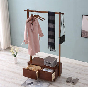 Organize with kdjhp solid wood coat rack coat rack floor bedroom replacement shoe rack drawer storage rack cabinet hanger coat rack 0189 color c design pulley