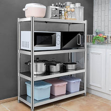 Load image into Gallery viewer, Explore kitchen shelf stainless steel microwave oven rack multi function kitchen cabinet and cabinet rack storage rack 6 sizes kitchen storage racks size 10040118cm