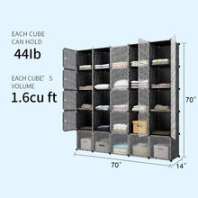 Load image into Gallery viewer, Top rated kousi cube organizer storage cubes organizers and storage storage cube cube storage shelves cubby shelving storage cabinet toy organizer cabinet black 25 cubes