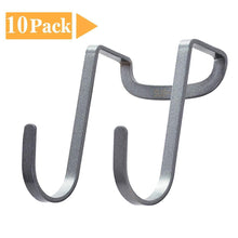 Load image into Gallery viewer, Best seller  fle over cabinet door hook stainless steel multipurpose s hook over the door hook use for kitchen cabinet drawer bathroom wardrobe office 10 pack
